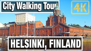 4K City Walks: Helsinki Finland Evening Walk  - Virtual Walk Walking Treadmill Video