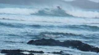 Cillian Ryan surfing