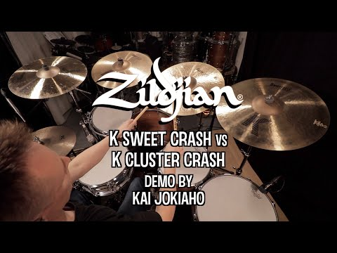 Zildjian K Sweet vs K Cluster Crash Demo By Kai Jokiaho