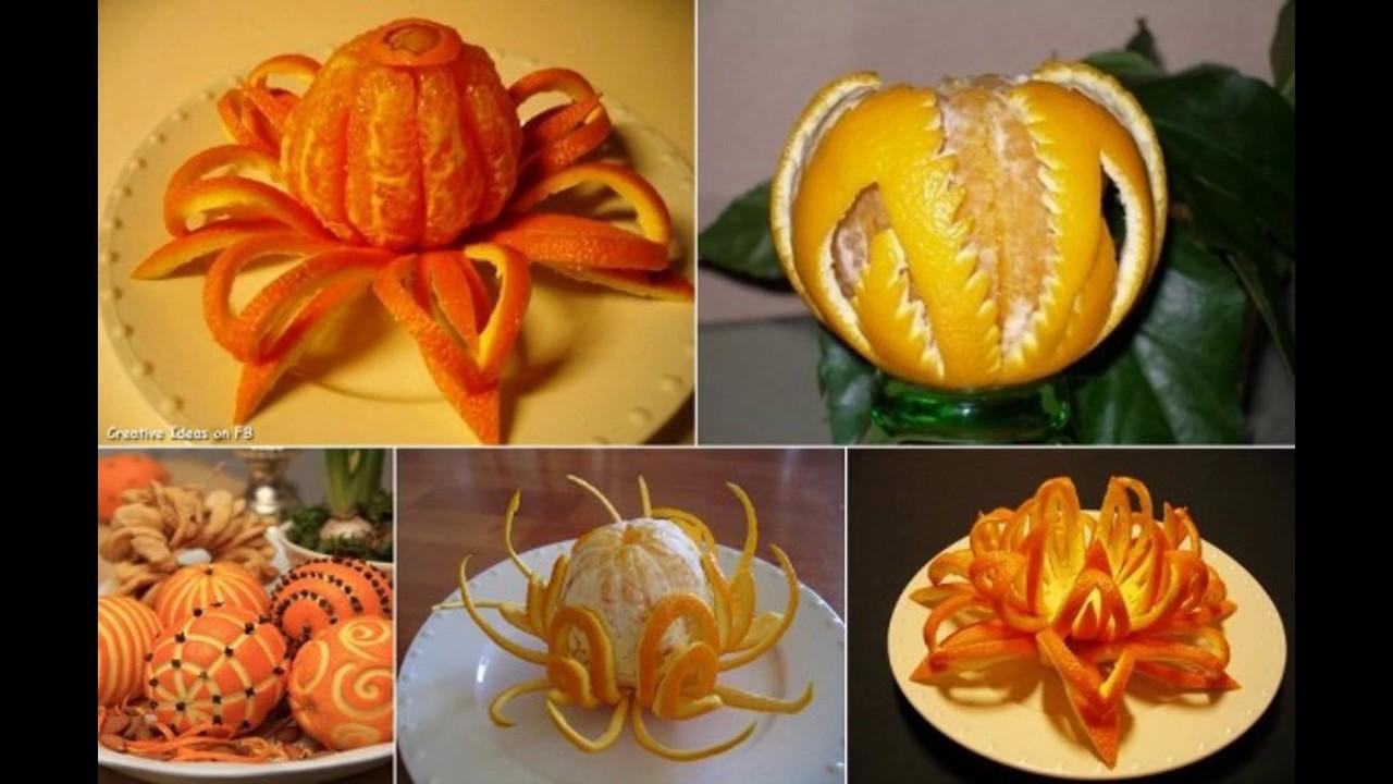 Simple Fruit decoration ideas orange