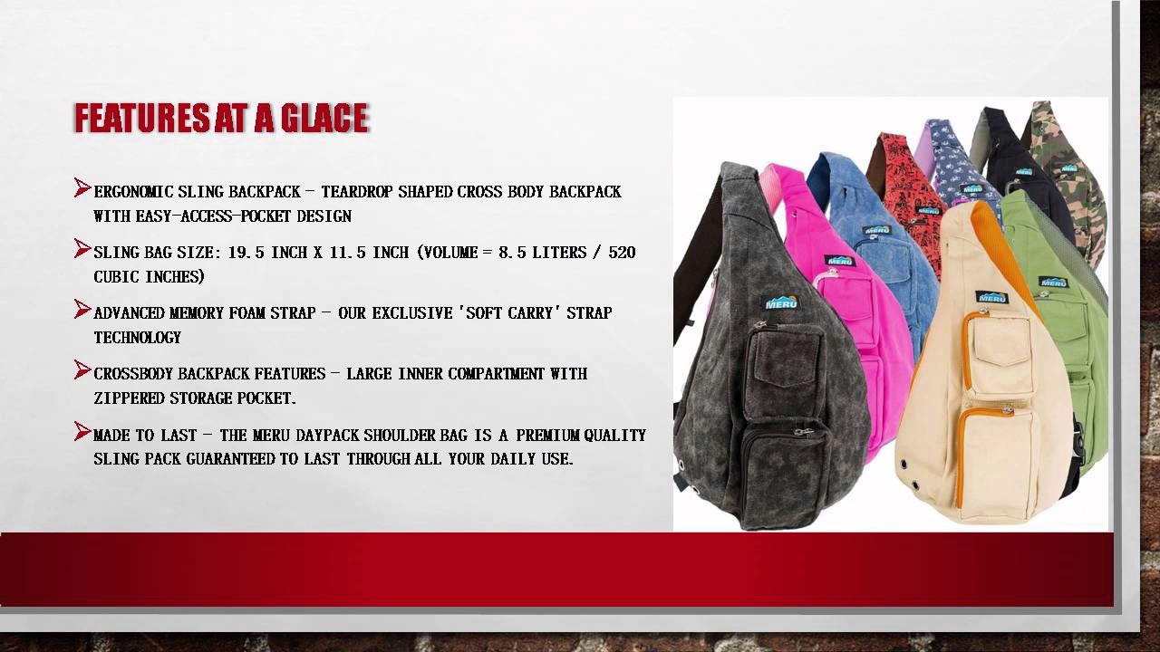 710b68a8e1e9 NEXT GEN Sling Backpack By MERU Cross body Sling Bag With Memory Foam Strap  - YouTube