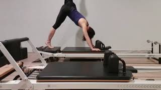 Flying Splits in Pilates Reformer at Soulful Fitness Lane Cove