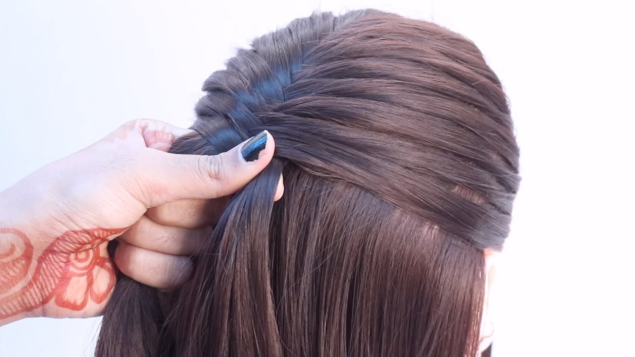 3 new ponytail hairstyle for party   hairstyle for one piece   dutch braid, fishtial braid ponytail
