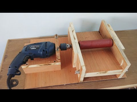 "DIY Homemade 8"" Drum Sander / Thickness Sander Using A Drill Machine.."
