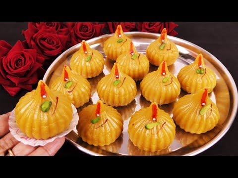 ना-मावा-ना-मलाई-10-मिनट-में-गणपति-बाप्पा-के-सबसे-प्रिये-मंदिर-जैसे-स्वादिष्ट-मोदक-besan-modak-recipe