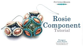 Rosie Component - LIVE! DIY Simple Jewelry Earring Tutorial by PotomacBeads