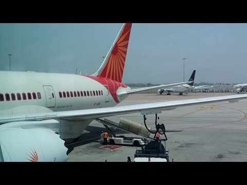Air India's below average business class. Delhi to London on a Dreamliner