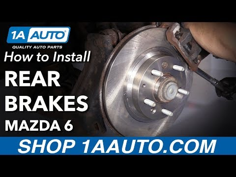 How to Install Rear Brake Pads Rotors 2006-13 Mazda 6