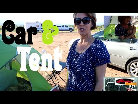 Lady Learning To Live In A Tent & Her Car