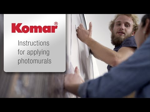 Komar photomurals - Instructions: Wallpapering has never been so easy!