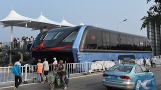 Breaking China futuristic straddling bus could change public transportation forever August 8 2016