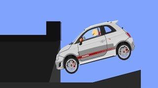 Phun Algodoo Car Destruction #8 (car crashes)