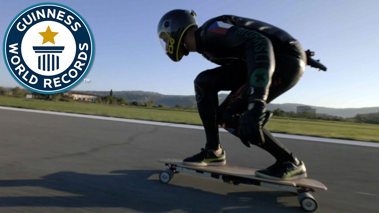 Fastest Sd On An Electric Skateboard Guinness World Records You