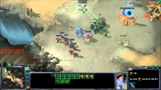 (Startale)Bomber Reacts to an insult in fantastic fashion Starcraft 2 II trolling