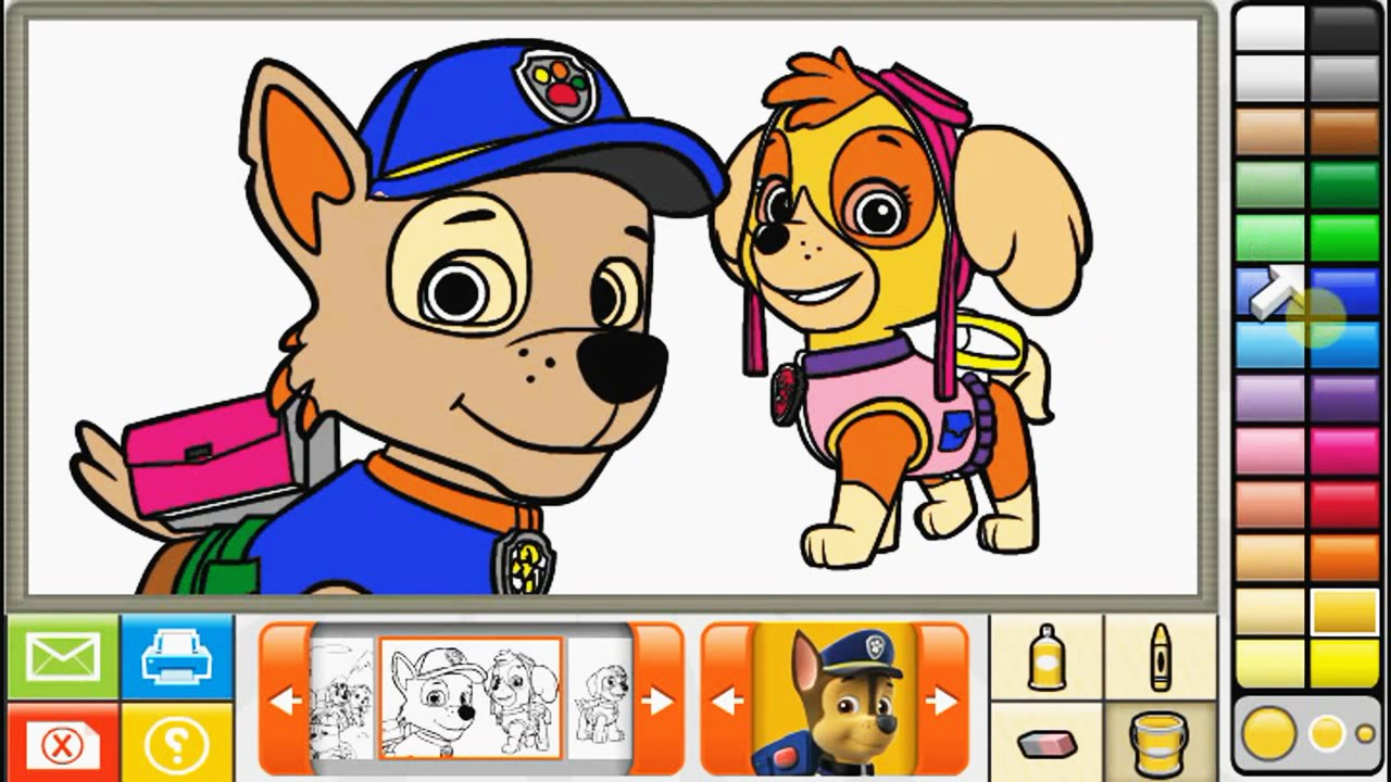 Paw Patrol & Wallykazam - Nick Jr Coloring Book ! - YouTube