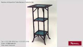 Bamboo Antique End Table Bamboo Tables For Sale