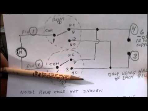 How a DC Motor Reversing Circuit Works Using Relays  YouTube