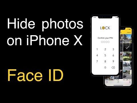 Lock Albums Hide photos on iPhone X with Face ID unlock