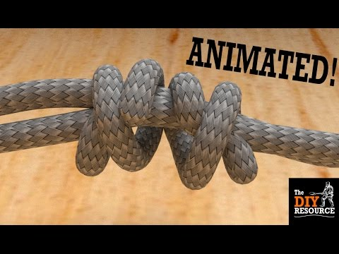 How To Tie a Double Fisherman's Knot (EASY and Animated) - Join Two Ropes Together