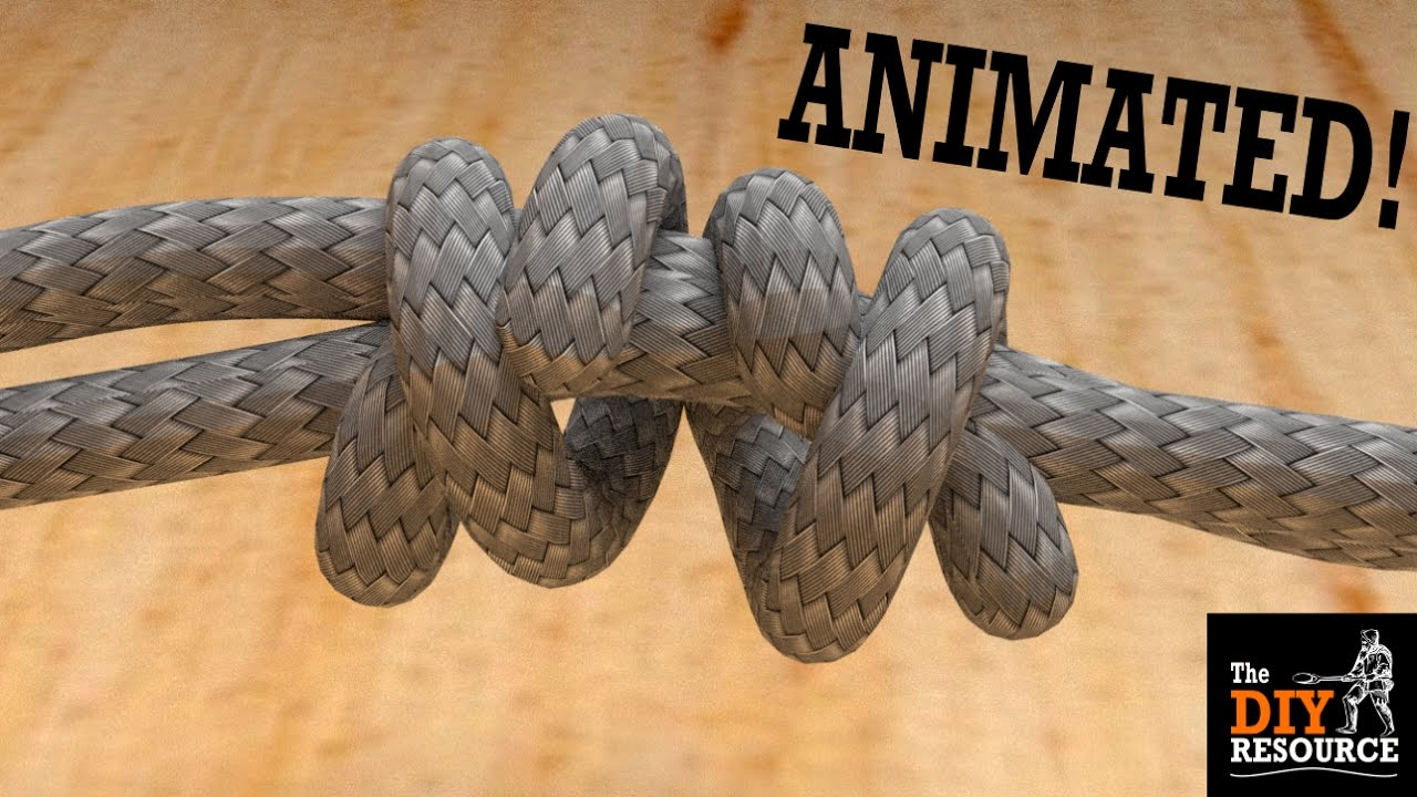 How to tie a double fishermans knot easy and animated join two how to tie a double fishermans knot easy and animated join two ropes together ccuart Gallery