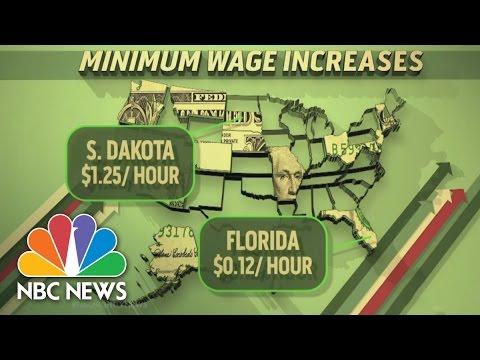 New Year, New Laws: Minimum Wage Increases | NBC News