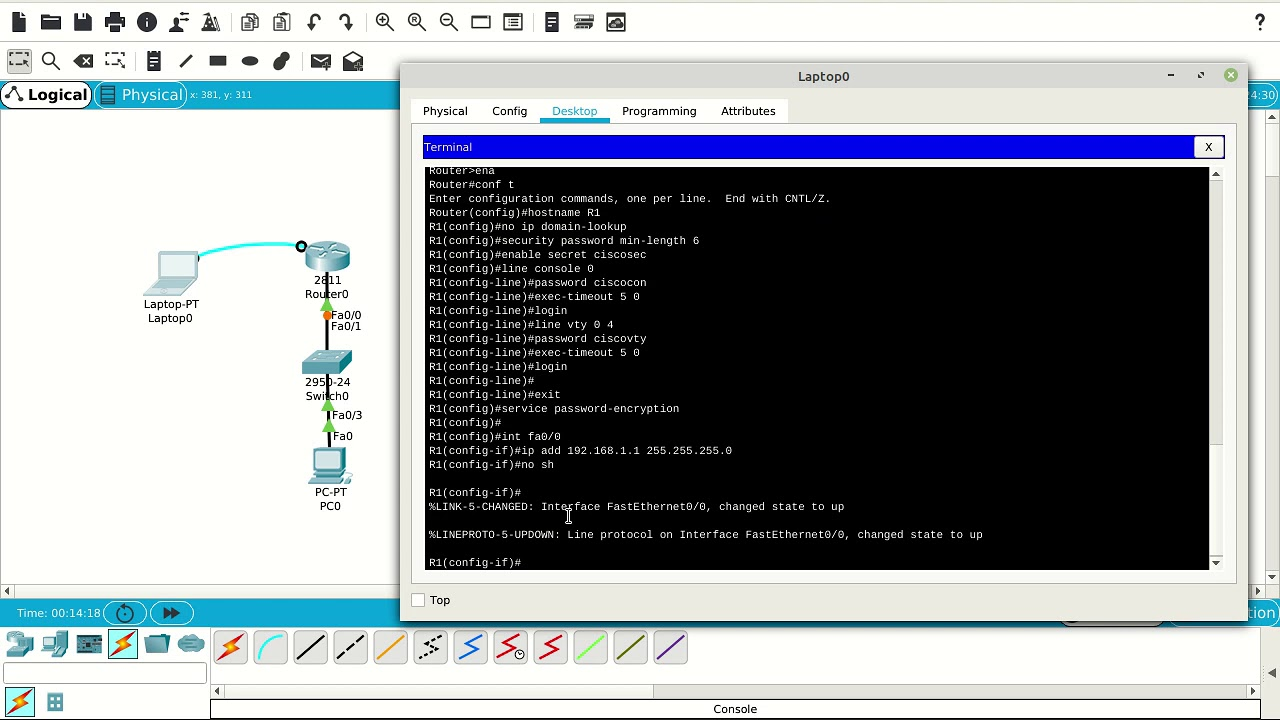 how to configure console password on cisco router