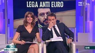 Isoardi e Salvini, il primo incontro in tv: sorrisi e ammiccamenti