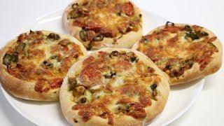 PETITE PIZZA AU POULET POUR LE RAMADAN (CUISINERAPIDE)