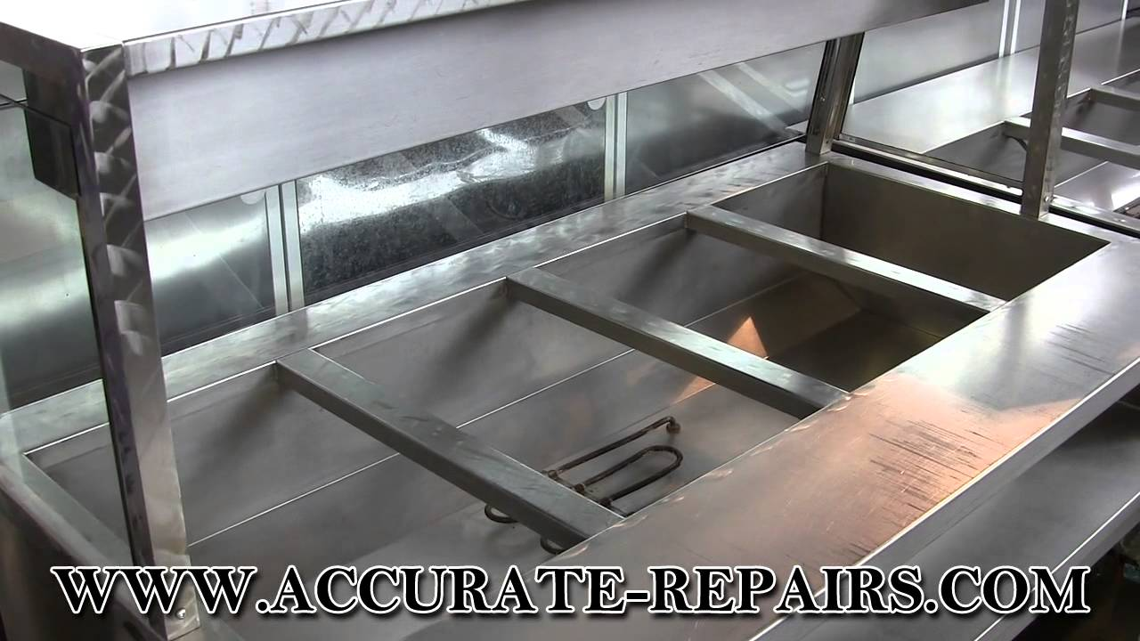 4 well stainless steel steam table w sneeze guard refurbished youtube - Sneeze guard for steam table ...