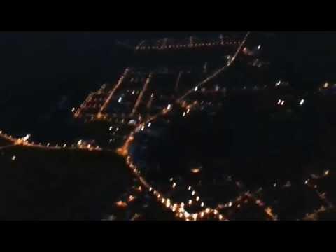 Łosice nocą z lotu
