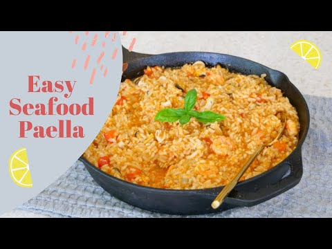 SEAFOOD PAELLA MADE EASY | SPANISH RECIPES | KERRY WHELPDALE
