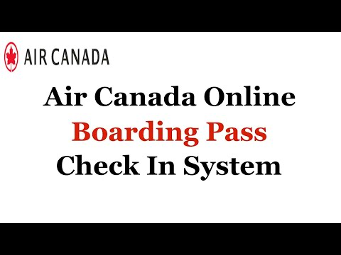 Air Canada Online Boarding Pass Check In System