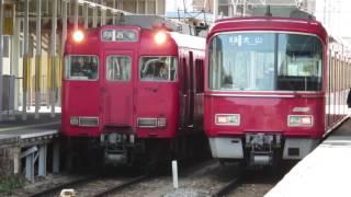西尾ダラ運用! 名鉄6000系 6019F (普通西尾行き) 新安城入線&発車シーン (警笛付き)