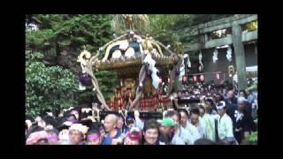 平成26年 新宿区西早稲田・水稲荷神社例大祭 本社神輿宮入