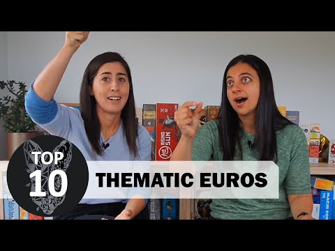 Top 10 Thematic Euros (euro style board games)