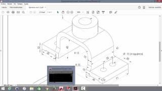 Proyección ortográfica en dibujo mecánico, ejercicio II