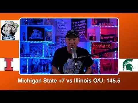 Michigan State vs Illinois 2/23/21 Free College Basketball Pick and Prediction CBB Betting Tips