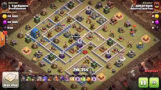 JONATRON 3 STARS TH12 with KS Go Hogs coc Clash of clans