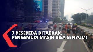 7 Pengendara Sepeda, Diseruduk Avanza di Jalan Sudirman