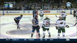 Blues goal, no wait, no goal lulz in 1st. Minnesota Wild vs St. Louis Blues Mar 14 2015 NHL