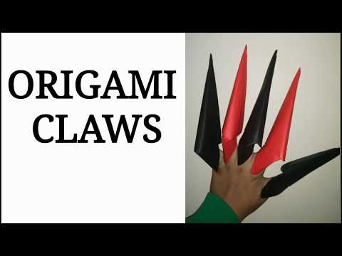 Origami Paper Claws   Paper Fingers   Easy Tutorial HD