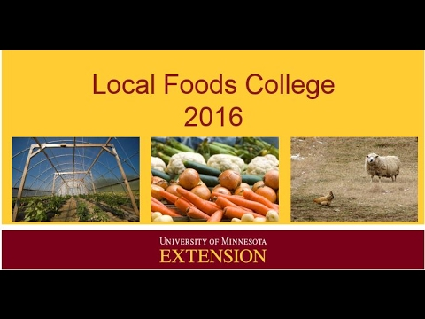 "Local Foods College 2016 - ""Hooked on Ponics"": Farming in a controlled environment"