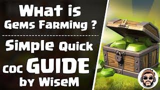 Earn Gems by Gems Farming in Clash of Clans | What is Gems Farming in Clash of Clans ? | WiseMGaming
