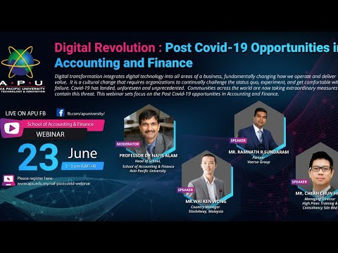 Digital Revolution: Post COVID-19 Opportunities in Accounting and Finance