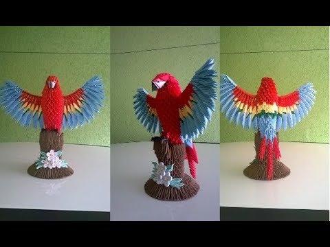 Origami Eagle Instructions Diagram 1990 Club Car Ds Wiring Magic Ball Www Toyskids Co Parrot Of The Jungle Loro Bird 3d Emilio Doovi Flexible Pdf