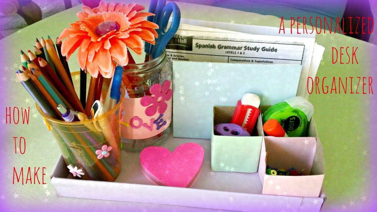 Kids Crafts Colorful Desk Organizer Youtube