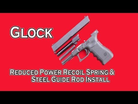 GLOCK WOLFF REDUCED POWER RECOIL SPRING & STEEL GUIDE ROD