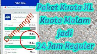 Cara Mengubah Kuota Midnight/Malam XL Menjadi REGULER 24 Jam FULL H...