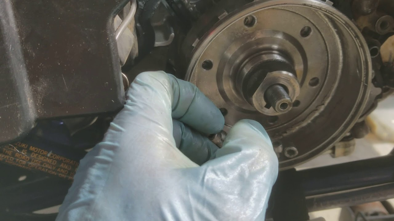 hight resolution of suzuki lt r 450r ltr 450 starter not engaging starter clutch flywheel