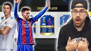 UNBELIEVABLE BARCELONA VS REAL MADRID ONLY DRAFT!! - FIFA 17 Ultimate Team Fut Draft!!
